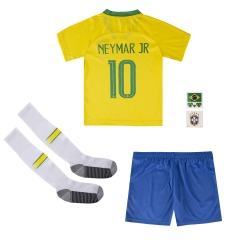 #10 Neymar JR Brazil Youth Home Soccer Jersey Full Kits 2018 ,Jersey+Shorts+Sock