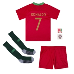 #7 Cristiano Ronaldo Portugal Youth Home Soccer Jersey Full Kits 2018 ,Jersey+Shorts+Sock