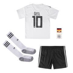 #10 Ozil Germany Youth Home Soccer Jersey Full Kits 2018 ,Jersey+Shorts+Sock