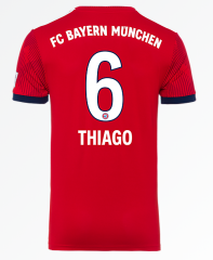 #6 THIAGO Bayern Munchen Home Red Soccer Jersey 2018-2019