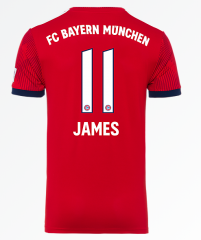 #11 JAMES Bayern Munchen Home Red Soccer Jersey 2018-2019