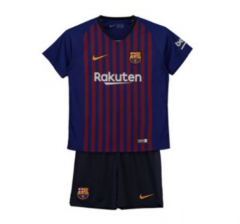 Youth Barcelona Home Uniform 2018-2019 ,Jersey+Shorts