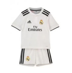 Youth Real Madrid Home Uniform 2018-2019 ,Jersey+Shorts