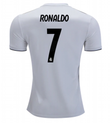 #7 RONALDO Real Madrid Home White Soccer Jersey Shirts 18/19