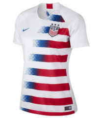2018-2019 USA Home White Women's Soccer Jersey