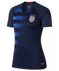 2018-2019 USA Away Blue Women's Soccer Jersey
