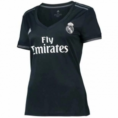 2018-2019 Real Madrid Away Black Women's Soccer Jersey