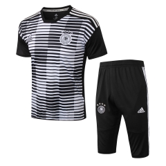 Germany White Black Short Training Suit 2018