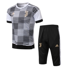 Juventus White Black Short Training Suit 2018