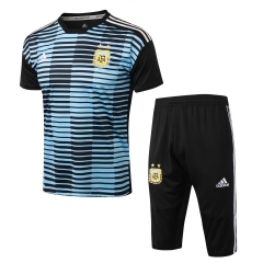 Argentina Blue Black Short Training Suit 2018