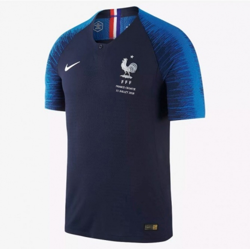 Champion Match Details Player Version France Home Version World Cup 2018 Soccer Jersey