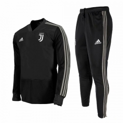 Juventus Black V Neck Training Suit 2018-2019