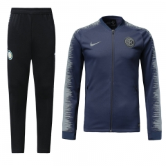 Inter Milan Grey Blue N98 Jacket Suit 2018
