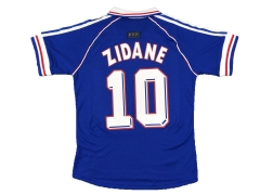 #10 ZIDANE Men's Retro France Home Dark Blue Version 1998