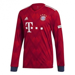 2018-2019 Bayern Munchen Home Long Sleeve Soccer Jersey Shirt
