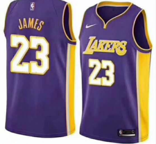 Men NBA LeBron James Lakers #23 Icon Edition Swingman Jersey - Purple