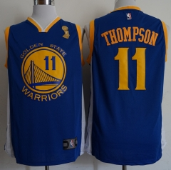 Men NBA 2018-19 Klay Thompson Golden State Warriors #11 Blue Jersey - Champion version