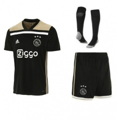 Youth Ajax Third Away Black Uniform 2018-2019 ,Jersey+Shorts+Sock Full kits