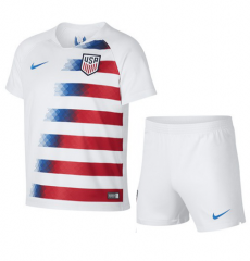 Youth USA Home Uniform 2018-2019 ,Jersey+Shorts