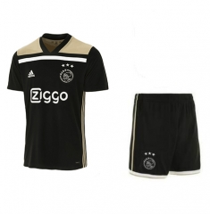 Youth Ajax Third Away Black Uniform 2018-2019 ,Jersey+Short kits