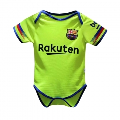 Baby Barcelona Away Yellow Green Infant Crawl Suit 2018-2019