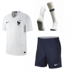Youth 2 Star Champions France Away Soccer Jersey Full Kits 2018 ,Jersey+Shorts+Sock