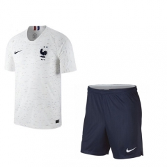 Youth 2 Star Champions France Away Soccer Kit 2018