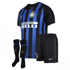 Inter Milan Home Blue Soccer Full Kits 2018-2019, Jersey+Shorts+Sock