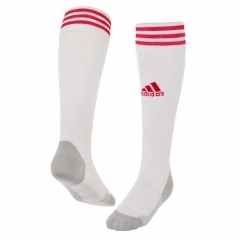 2018-2019 Ajax Home White Soccer Sock