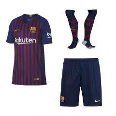 Barcelona Home Blue/Red Soccer Full Kits 2018-2019, Jersey+Shorts+Sock