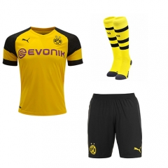 BVB Home Yellow Soccer Full Kits 2018-2019, Jersey+Shorts+Sock