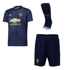 Manchester United Third Soccer Full Kits 2018-2019, Jersey+Shorts+Sock