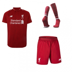 Liverpool Home Red Soccer Full Kits 2018-2019, Jersey+Shorts+Sock