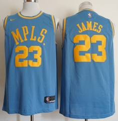 Men NBA LeBron James Lakers #23 Icon Edition Swingman Jersey - Blue
