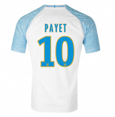 #10 PAYET Marseille Home White Soccer Shirt Jersey 2018-19