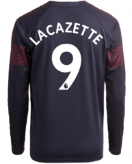 #9 LACAZETTE Arsenal Away Long Sleeve Soccer Jersey Shirt 2018-2019