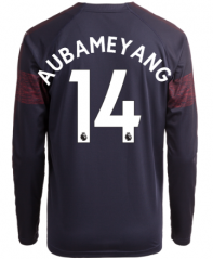 #14 AUBAMEYANG Arsenal Away Long Sleeve Soccer Jersey Shirt 2018-2019