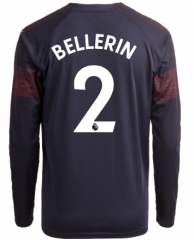 #2 BELLERIN Arsenal Away Long Sleeve Soccer Jersey Shirt 2018-2019