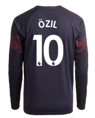 #10 OZIL Arsenal Away Long Sleeve Soccer Jersey Shirt 2018-2019