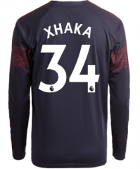 #34 XHAKA Arsenal Away Long Sleeve Soccer Jersey Shirt 2018-2019