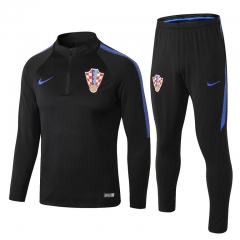Croatia Black Training Suit 2018-2019