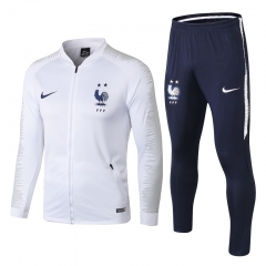 2 Star France White Jacket Suit 2018-2019