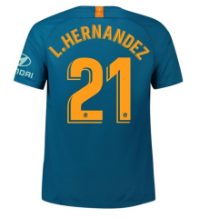 #21 L.HERNANDEZ Atletico Madrid Third Away Soccer Jersey 2018-2019
