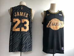 Men NBA LeBron James Lakers #23 Icon Edition Swingman Jersey Black