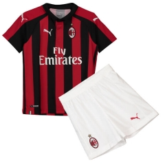 Youth AC Milan Home Uniform 2018-2019 ,Jersey+Shorts