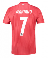 #7 MARIANO 2018-2019 Real Madrid Third Away Soccer Jersey Shirts