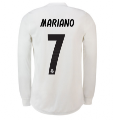 #7 MARIANO 2018-2019 Real Madrid Home Long Sleeve Soccer Jersey Shirt