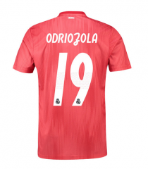 #19 Odriozola 2018-2019 Real Madrid Third Away Soccer Jersey Shirts