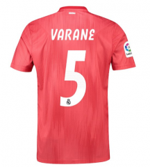 #5 VARANE 2018-2019 Real Madrid Third Away Soccer Jersey Shirts