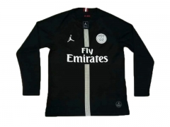 Paris Jordan UCL Black Long Sleeve Soccer Jersey Shirt 2018-2019